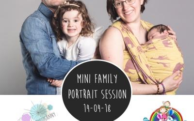 Family Portrait Mini Sessions at Happy Daze – 14/04/18