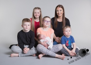 Happy Daze, Darwen - Six siblings sitting together