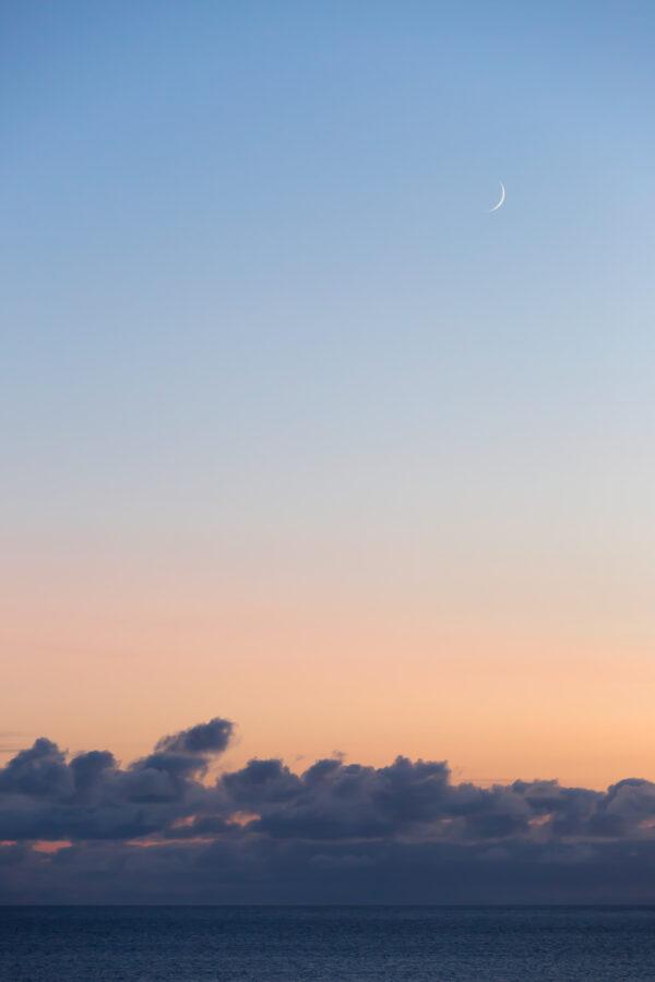 Moon over the Sea, Isle of Harris - Portrait