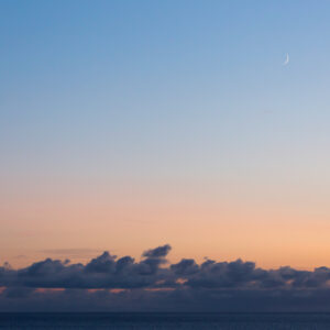 Moon Over the Sea, Isle of Harris – Landscape